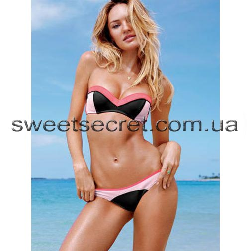 Купальник Виктория Сикрет Victoria's Secret Beach Sexy Flirt Bandeau Top / Itsy Bottom