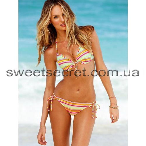 Купальник Виктория Сикрет Victoria's Secret Fabulous Triangle Top / Double String Bikini Bottom