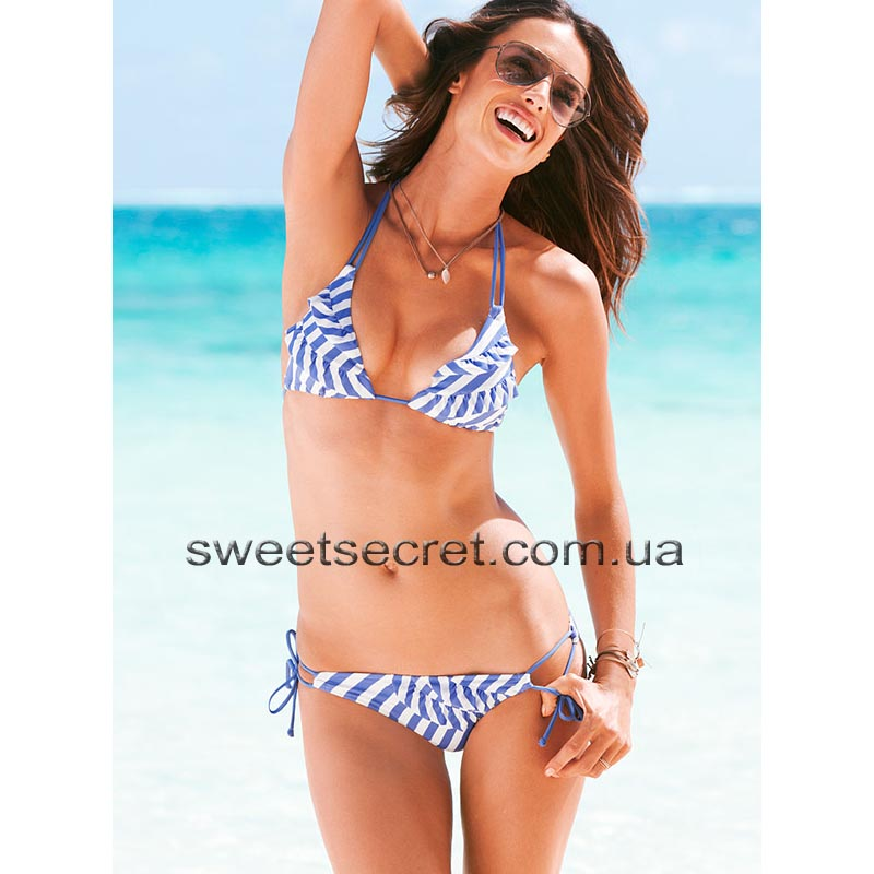 Купальник Виктория Сикрет Victoria's Secret Beach Sexy Ruffle Push-Up Triangle Top / Ruffle Double String Bottom