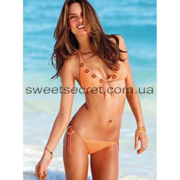 Купальник Виктория Сикрет Victoria's Secret Jeweled Deep V Triangle Top / Multi String Bottom